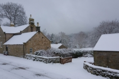 Harbottle in the snow